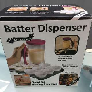 Batter Dispenser - brand new. Great for muffins/pancakes/cupcakes!