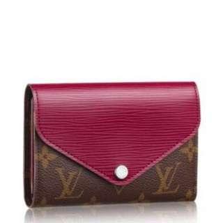 Louis Vuitton LV Monogram Canvas Marie-Lou Compact Pink Fuchsia Epi Wallet