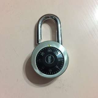 Yale number lock used for lockers or bicycles for only $5.