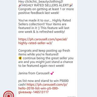 Thank you Carousell! 💕 HIGHLY RATED SELLER!!!