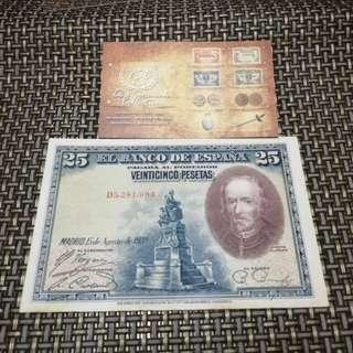 Old Banknotes Espana (Spain)