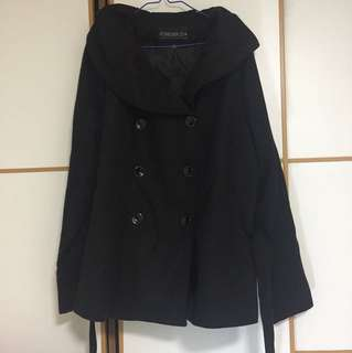 Black middle-length coat bought from England