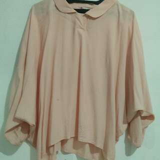 Blouse lengan kalong salem