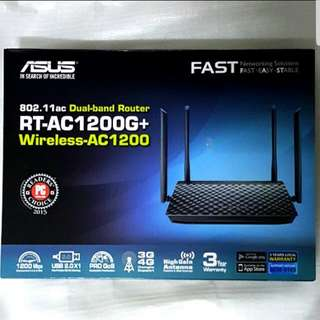 Asus RT-AC1200G+ Dual Band Router 802.11ac NEW with 3 years warranty