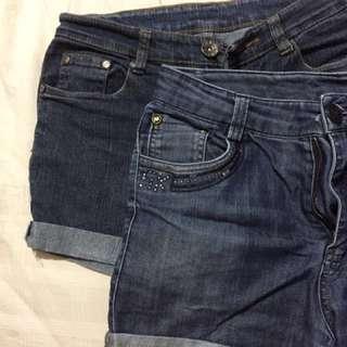 High waist Maong shorts 2 for P250