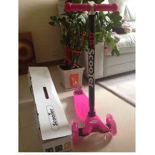 粉紅色3輪滑行車 (Pink Color 3-wheel scooter)