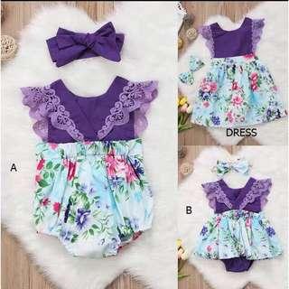 BB-0005 Baby Girls Purple Dress