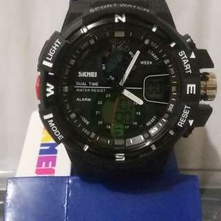 SKMEI jam tangan sport ORIGINAL pria anti air + BOX mica