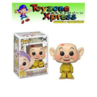 Snow White and the Seven Dwarfs Dopey Pop! Vinyl Figure (#340) (CHASE)