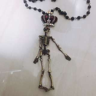 💯正貨! Butler & Wilson skeleton necklace chanel prada gucci