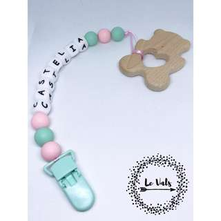 Pacifier Clip / Wooden Teether