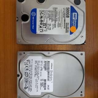 Seagate 500GB and Hitachi 160GB HD Drives