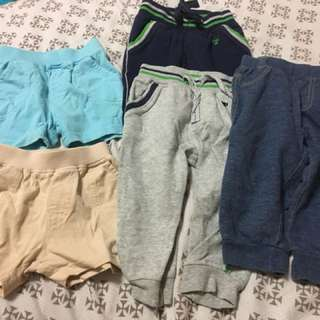 Bundle of Mothercare shorts and pants for 6-12mo