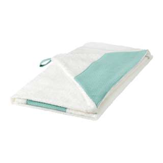 [IKEA] TILLGIVEN Baby towel with hood, white / Turquoies / Pink