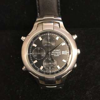Seiko Chronograph Water Resist 100M Stainless Steel Watch