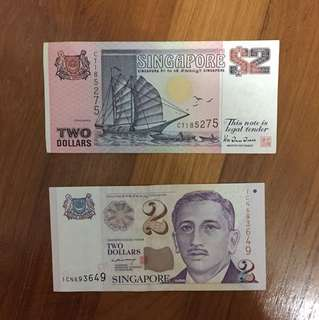 Old $2 notes