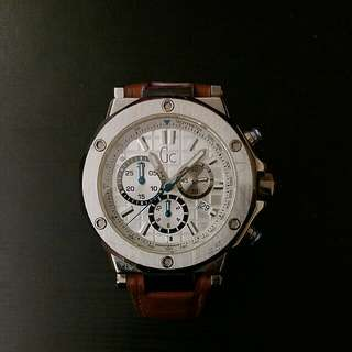 Guess GC genuine leather watch 真皮手錶