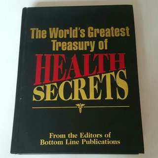 FIXED PRICE📬Brand New The World's Greatest Treasury Of Health Secrets Big Hard Cover Book