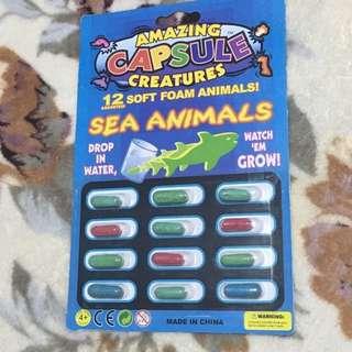 Foam capsule animals