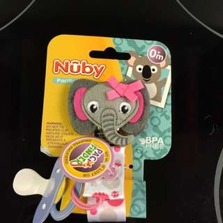 New nuby pacifier clip
