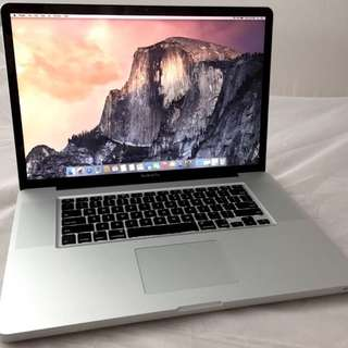 "NEW Battery Macbook Pro 17"" i7 Rare good outlook"