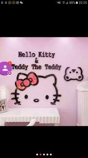 細款hello kitty牆貼800mmx589mm DIY