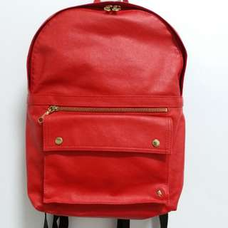 保證正品9成新Porter 紅色後背包輕甜繽紛系列