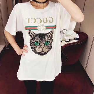 GG Gucci 古馳 古奇 GG18早春最新秀款 T恤 男女同款  尺碼  S M L 女裝 專櫃實拍 對版