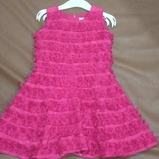 Baby fashionista pink ruffles gown 12 to 18 months