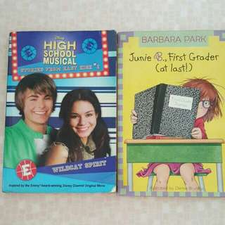 FIXED PRICE📬Barbara Park Junie B. Jones / High School Musical Story Book