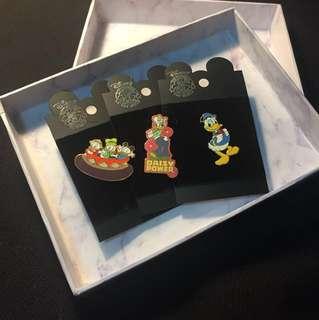 迪士尼唐老鴨&黛絲襟章/ Disney Donald & daisy duck pin