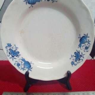 Pinggan OC Bunga Biru