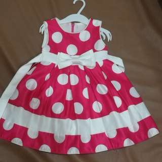 Minnie mouse pink polka dots dress