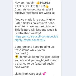 Thank you Carousell 🌸