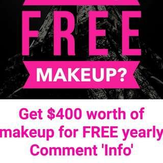 Free Makeup worth $400