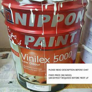 ♳15L Big Tin Nippon Paint Vinilex 5000 (Lily White)