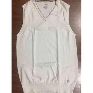 Celio mens casual white vest M