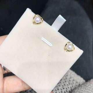 18K Gold 淡水珍珠耳環