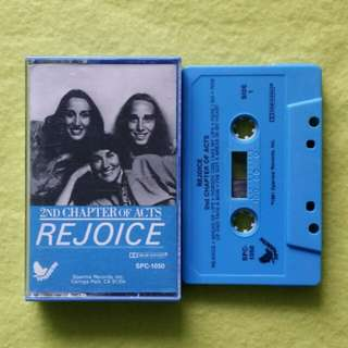 REJOICE. 2nd chapter of acts.(Religious)(Rare) Cassette tape not vinyl record