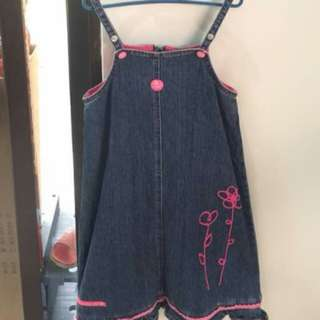 CROCODILE KIDS Girls Denim Sleeveless Dress/Top