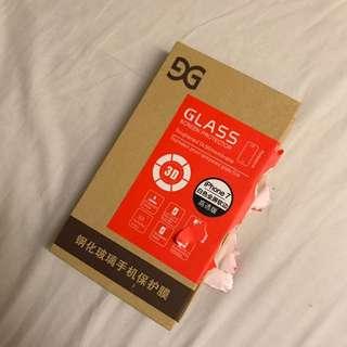 iPhone 7白色全屏軟邊鋼化玻璃手機保護膜