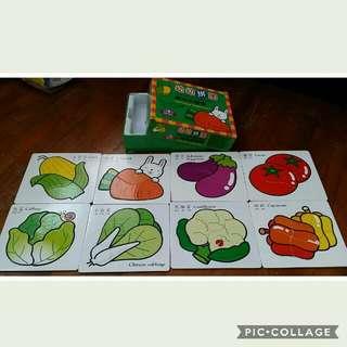 Educational Children's Puzzles - Delicious Vegetables