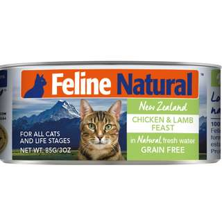 K9 Feline Natural Canned Chicken & Lamb 170gm x 24 cans