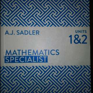 Year 11 Mathematics Specialist