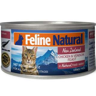 K9 Feline Natural Canned Chicken & Venison 170gm x 24 cans