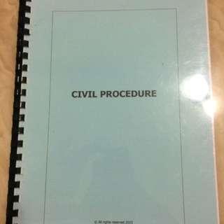 BAC Civil Procedure notes
