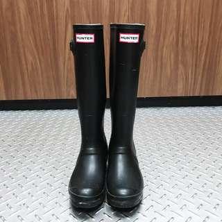[8成新 少穿]HUNTER 經典款 黑色 雨靴 UK5 US6M/7F EU38 購於美國Bloomingdales