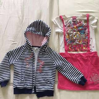 Girls dress, jacket