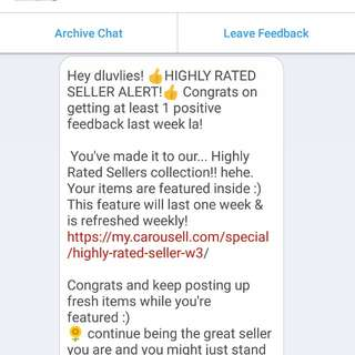DLuvlies Highly Rated Seller