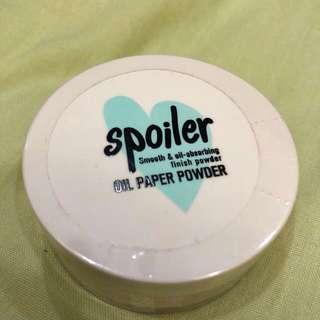 TonyMoly Spoiler Oil Paper Powder